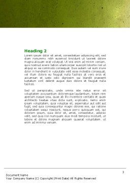 Green Socket Word Template, Second Inner Page, 04502, Careers/Industry — PoweredTemplate.com