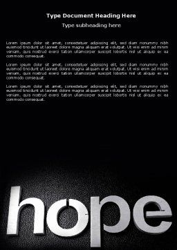 Hope Word Template Cover Page