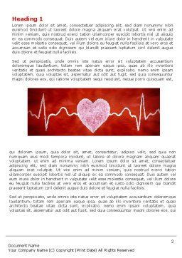 Heartbeat Word Template, First Inner Page, 04504, Medical — PoweredTemplate.com