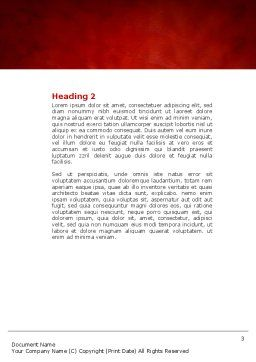 Heartbeat Word Template, Second Inner Page, 04504, Medical — PoweredTemplate.com