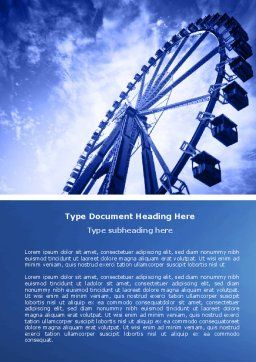 Ferris Wheel Word Template, Cover Page, 04507, Construction — PoweredTemplate.com