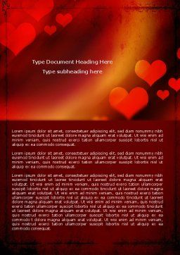 Love Theme Word Template, Cover Page, 04508, Holiday/Special Occasion — PoweredTemplate.com