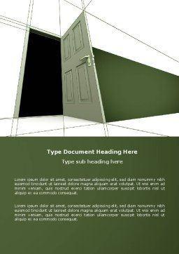 Plan With Open Door Word Template, Cover Page, 04510, Consulting — PoweredTemplate.com