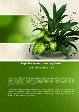 House Plant Word Template Cover Page