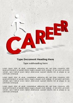 Career Movement Word Template Cover Page