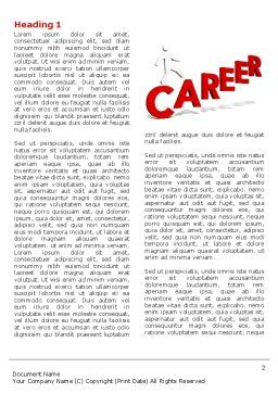 Career Movement Word Template First Inner Page