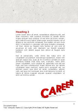 Career Movement Word Template Second Inner Page