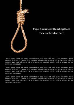 Noose Word Template, Cover Page, 04515, General — PoweredTemplate.com