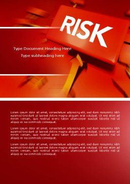 Risk Block Word Template, Cover Page, 04516, Business — PoweredTemplate.com