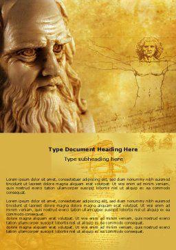 Leonardo Da Vinci Word Template, Cover Page, 04517, Education & Training — PoweredTemplate.com
