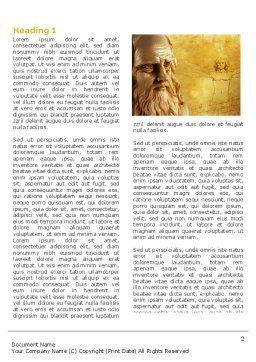 Leonardo Da Vinci Word Template, First Inner Page, 04517, Education & Training — PoweredTemplate.com