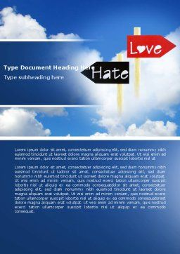 Love - Hate Word Template, Cover Page, 04518, Consulting — PoweredTemplate.com