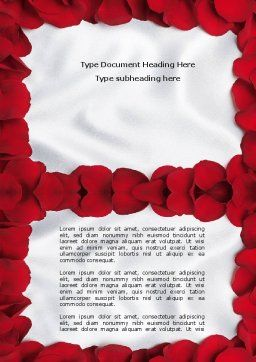 Hearts Theme Word Template, Cover Page, 04520, Holiday/Special Occasion — PoweredTemplate.com