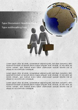 Migration Word Template, Cover Page, 04521, Careers/Industry — PoweredTemplate.com