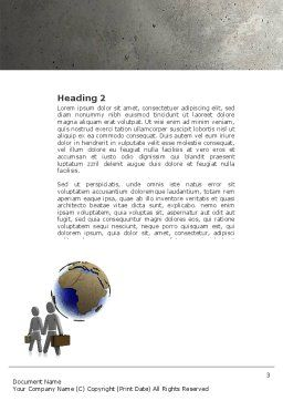 Migration Word Template, Second Inner Page, 04521, Careers/Industry — PoweredTemplate.com