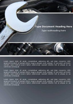 Car Repair Word Template, Cover Page, 04522, Utilities/Industrial — PoweredTemplate.com