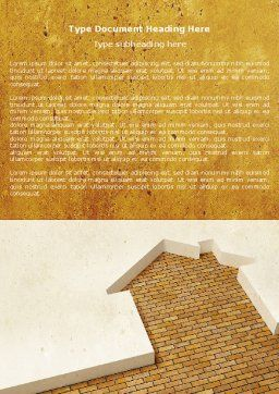 Dwelling Problem Word Template, Cover Page, 04523, Construction — PoweredTemplate.com