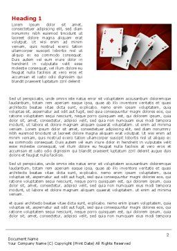 Aces Word Template First Inner Page