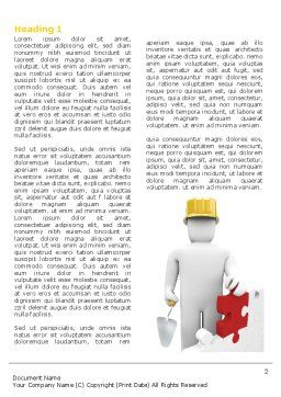 Reconstruction Word Template, First Inner Page, 04537, Construction — PoweredTemplate.com