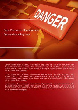 Danger Word Template, Cover Page, 04539, Consulting — PoweredTemplate.com