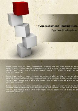 Red Brick Word Template, Cover Page, 04541, Consulting — PoweredTemplate.com