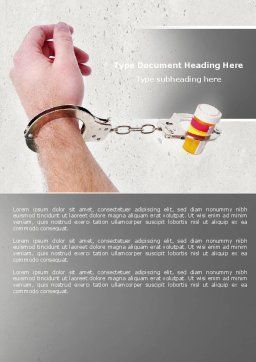 Pharmaceutical Dependency Word Template, Cover Page, 04546, Medical — PoweredTemplate.com