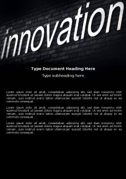 Caption Innovation On The Wall Word Template, Cover Page, 04549, Technology, Science & Computers — PoweredTemplate.com
