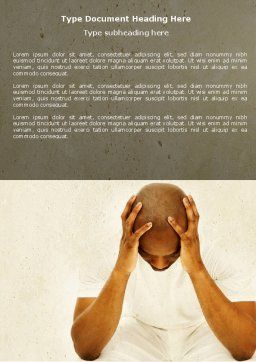 Thoughtful Mind Word Template, Cover Page, 04554, Medical — PoweredTemplate.com