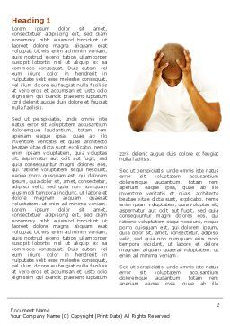 Thoughtful Mind Word Template, First Inner Page, 04554, Medical — PoweredTemplate.com
