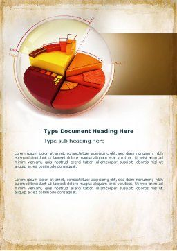 3D Pie Chart Word Template, Cover Page, 04559, Business — PoweredTemplate.com