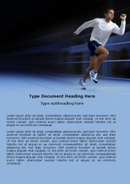 Endeavour Word Template, Cover Page, 04561, Sports — PoweredTemplate.com