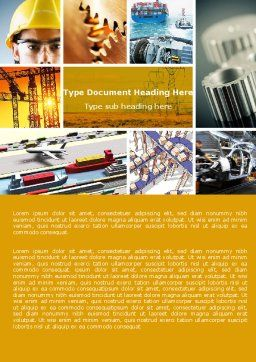 Industry Word Template, Cover Page, 04562, Utilities/Industrial — PoweredTemplate.com