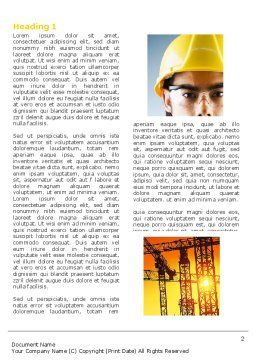 Industry Word Template, First Inner Page, 04562, Utilities/Industrial — PoweredTemplate.com