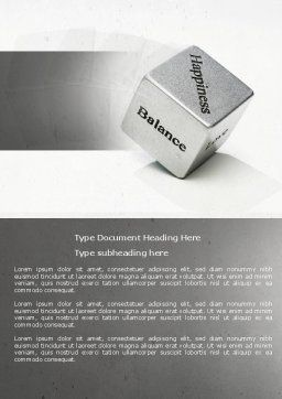 Cube Of Happiness And Balance Word Template, Cover Page, 04564, Medical — PoweredTemplate.com