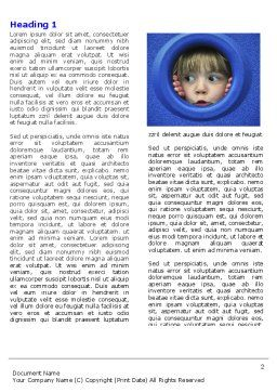 Kid Looking In Porthole Word Template, First Inner Page, 04566, People — PoweredTemplate.com