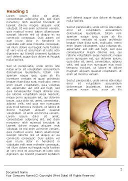Butterfly In Your Hands Word Template First Inner Page