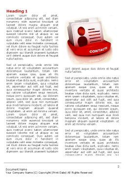 Contacts List Word Template, First Inner Page, 04568, Consulting — PoweredTemplate.com