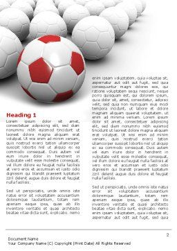 Originality Word Template, First Inner Page, 04570, Sports — PoweredTemplate.com