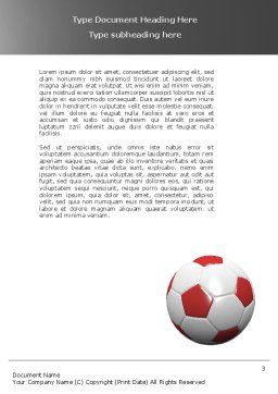 Originality Word Template, Second Inner Page, 04570, Sports — PoweredTemplate.com