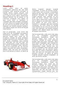 Formula One Car Word Template, First Inner Page, 04571, Sports — PoweredTemplate.com