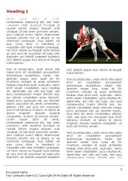 American Football New Orleans Saints Word Template, First Inner Page, 04572, Sports — PoweredTemplate.com