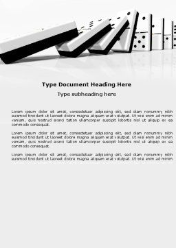 Chain Reaction Word Template, Cover Page, 04573, 3D — PoweredTemplate.com
