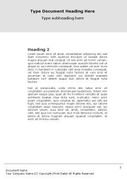 Chain Reaction Word Template, Second Inner Page, 04573, 3D — PoweredTemplate.com