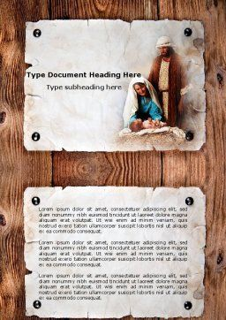 Birth of Christ Word Template Cover Page
