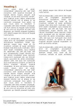 Birth of Christ Word Template, First Inner Page, 04574, Religious/Spiritual — PoweredTemplate.com