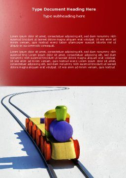 Train Model Word Template, Cover Page, 04576, Cars/Transportation — PoweredTemplate.com