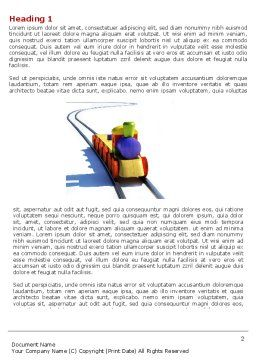 Train Model Word Template, First Inner Page, 04576, Cars/Transportation — PoweredTemplate.com