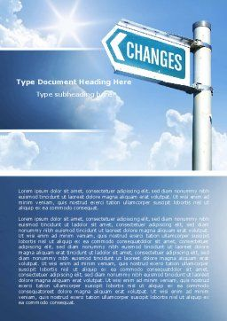 Changes Word Template, Cover Page, 04582, Financial/Accounting — PoweredTemplate.com