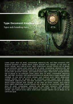 Outdated Telephone Word Template, Cover Page, 04583, Telecommunication — PoweredTemplate.com