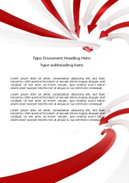 Vortex Word Template, Cover Page, 04585, Consulting — PoweredTemplate.com